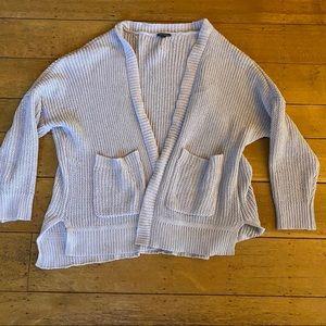 soft knit gray cardigan